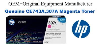 New Original HP 307A Magenta Toner Cartridge (CE743)