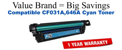 HP 646A Cyan Remanufactured Toner Cartridge (CF031A)