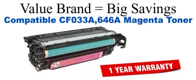 HP 646A Magenta Remanufactured Toner Cartridge (CF033A)