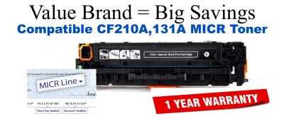 HP CF210A MICR Toner Cartridge (For Print Bank Checks)