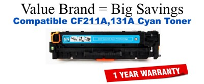 HP 131A Cyan Economy Toner Cartridge (CF211A)