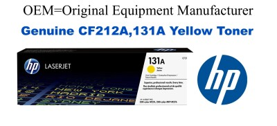 New Original HP 131A Yellow Toner Cartridge (CF212A)