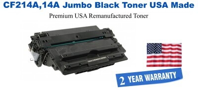 CF214A,14A Jumbo Premium USA Made Remanufactured HP Toner 50% Higher Yield