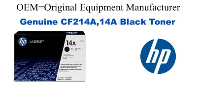 New Original HP 14A Black Toner Cartridge (CF214A)