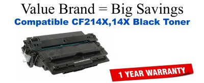 CF214A,14X High Yield Black Compatible Value Brand toner