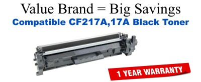CF217A,17A Black Compatible Value Brand toner
