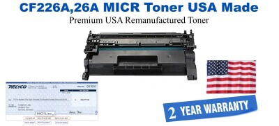 CF226A,26A MICR USA Made Remanufactured toner