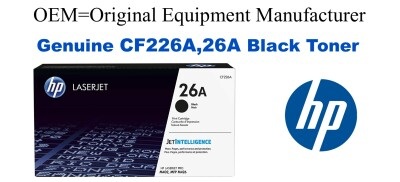 New Original HP 26A Black Toner Cartridge (CF226A)