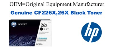 New Original HP 26X Black Compatible Toner Cartridge (CF226X)