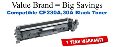 HP 30A Black Remanufactured Toner Cartridge CF230A
