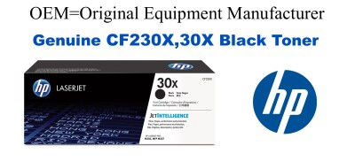 New Original HP 30X Black Toner Cartridge CF230X