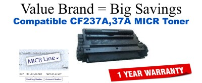 CF237A,37A MICR Compatible Value Brand toner