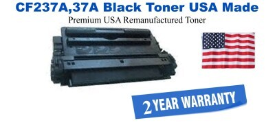 CF237A,37A Black Premium USA Made Remanufactured HP toner
