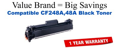 CF248A,48A Black Compatible Value Brand toner