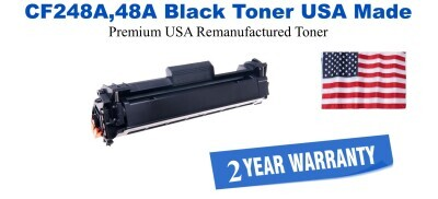 CF248A,48A Black Premium USA Made Remanufactured HP toner