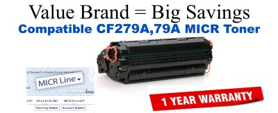 CF279A,79A MICR Compatible Value Brand toner