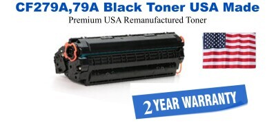 CF279A,79A Black Premium USA Made Remanufactured HP toner
