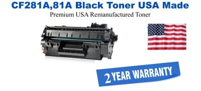 CF281A,81A Black Premium USA Made Remanufactured HP toner