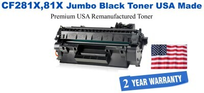 CF281X,81X Jumbo Premium USA Made Remanufactured HP Toner 50% Higher Yield