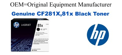 New Original HP 81X Black Toner Cartridge (CF281X)