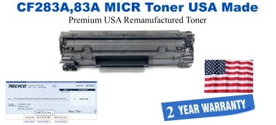 CF283A,83A MICR USA Made Remanufactured toner