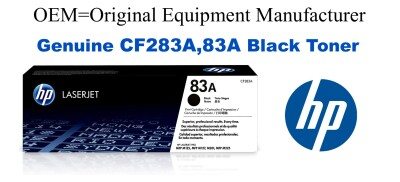 New Original HP 83A Black Toner Cartridge (CF283A)