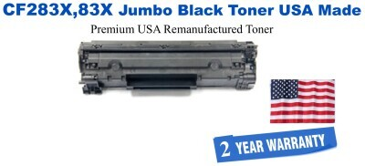 CF283X,83X Jumbo Premium USA Made Remanufactured HP Toner 50% Higher Yield