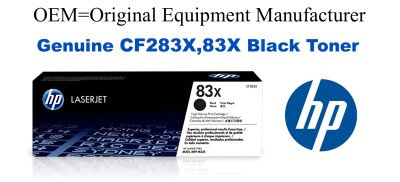 New Original HP 83X Black Toner Cartridge (CF283X)