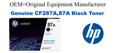 New Original HP 87A Black Toner Cartridge (CF287A)