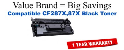 CF287X,87X High Yield Black Compatible Value Brand toner