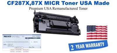 CF287X,87X MICR USA Made Remanufactured toner