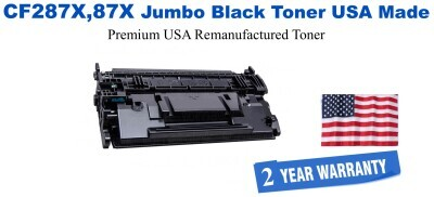 CF287X,87X Jumbo Premium USA Made Remanufactured HP Toner 50% Higher Yield