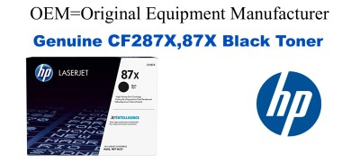 New Original HP 87X Black Toner Cartridge (CF287X)