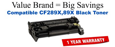 CF289X,89X High Yield Black Compatible Value Brand toner