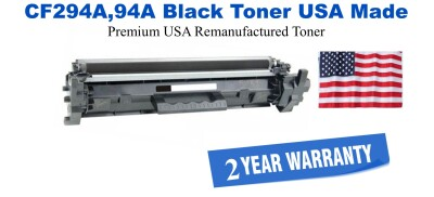 CF294A,94A Black Premium USA Made Remanufactured HP toner