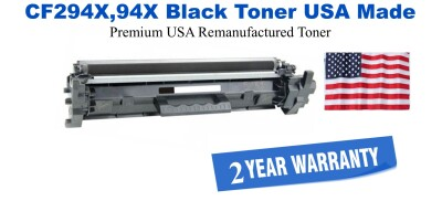 CF294X,94X High Yield Black Premium USA Made Remanufactured HP toner