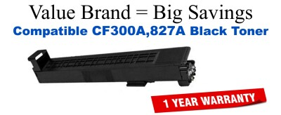 CF300A,827A Black Compatible Value Brand toner