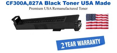 CF300A,827A Black Premium USA Made Remanufactured HP toner