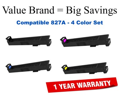 827A 4-Color Set Compatible Value Brand toner CF300A,CF301A,CF302A,CF303A