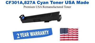 CF301A,827A Cyan Premium USA Made Remanufactured HP toner