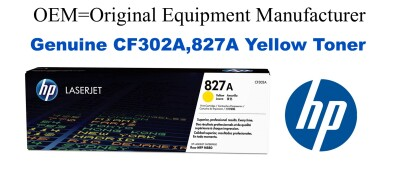 CF302A,827A Genuine Yellow HP Toner