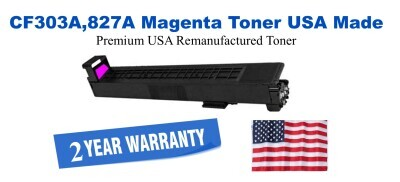 CF303A,827A Magenta Premium USA Made Remanufactured HP toner