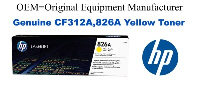 New Original HP 826A Yellow Toner Cartridge (CF312A)