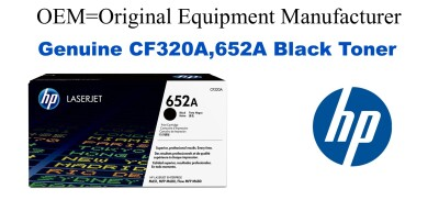 New Original HP 652A Black Toner Cartridge (CF320A)