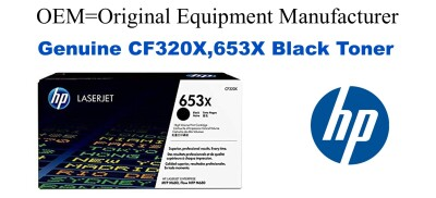 CF320X,653X Genuine Black HP Toner