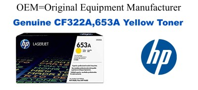CF322A,653A Genuine Yellow HP Toner