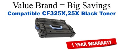 CF325X,25X High Yield Black Compatible Value Brand toner