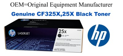 New Original HP 25X Black Toner Cartridge (CF325X)