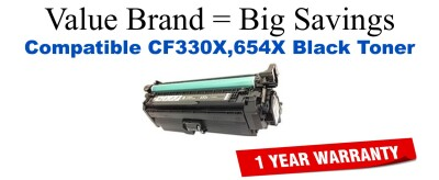 HP 654X Black Economy Toner Cartridge (CF330X)