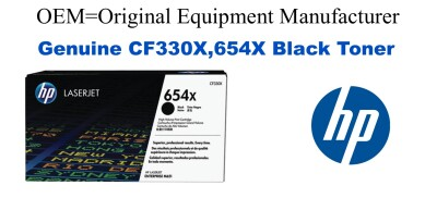 New Original HP 654X Black Toner Cartridge (CF330X)